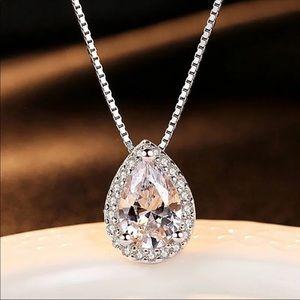 Jewelry - Pear Shaped CZ Necklace